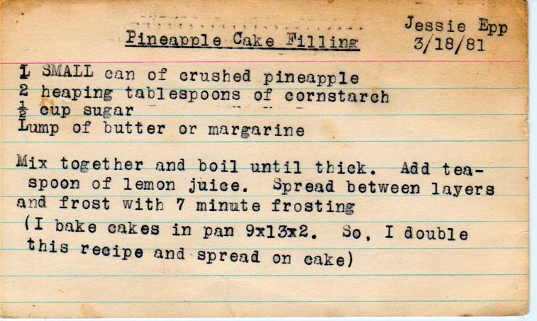 Pineapple Cake Filling Yesterdish