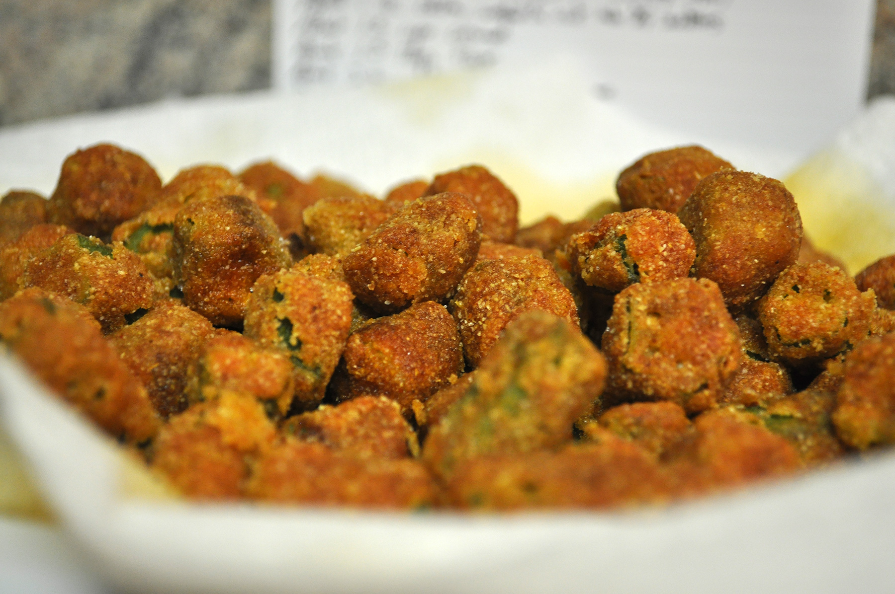 Fried okra was never a recipe designed to be particularly formal. In ...